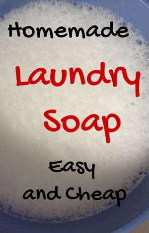 Cheap and easy homemade laundry soap
