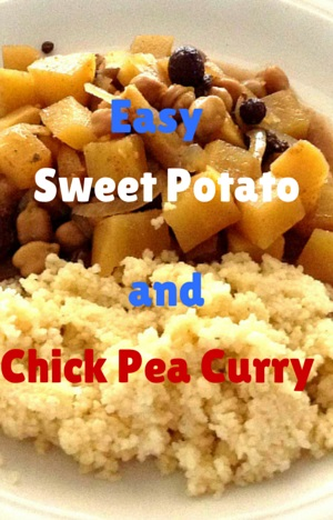 Whole Food Plant Based: Sweet Potato and Chick Pea Curry